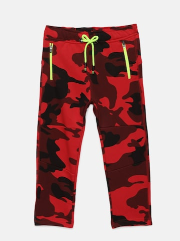 Little Kangaroos Boys Red Camouflage Track Pants Little Kangaroos Track Pants at myntra