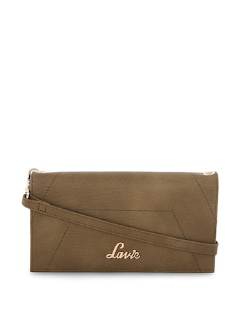 Lavie Women Olive Green Solid Two Fold Wallet Lavie Wallets at myntra