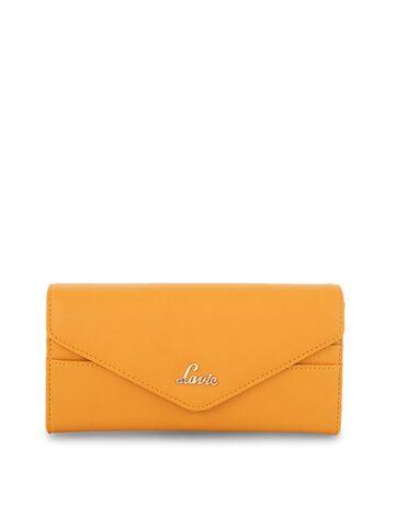 Lavie Women Yellow Solid Two Fold Wallet Lavie Wallets at myntra