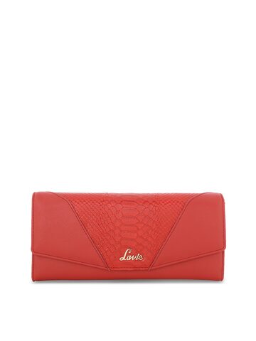 Lavie Women Red Solid Two Fold Wallet Lavie Wallets at myntra