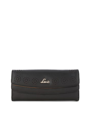 Lavie Women Black Solid Three Fold Wallet Lavie Wallets at myntra