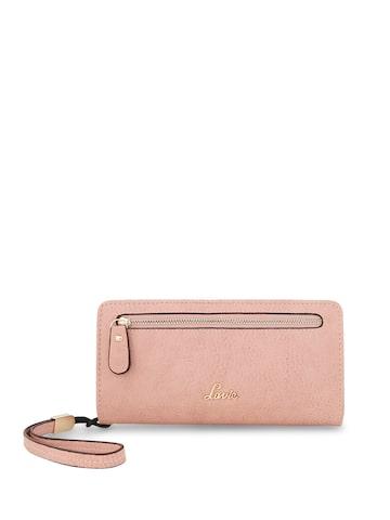 Lavie Women Pink Solid Zip Around Wallet Lavie Wallets at myntra