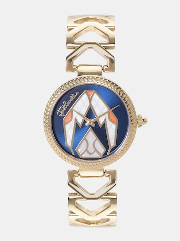 Just Cavalli Women Navy Blue & White Printed Analogue Watch JC1L045M0075 Just Cavalli Watches at myntra