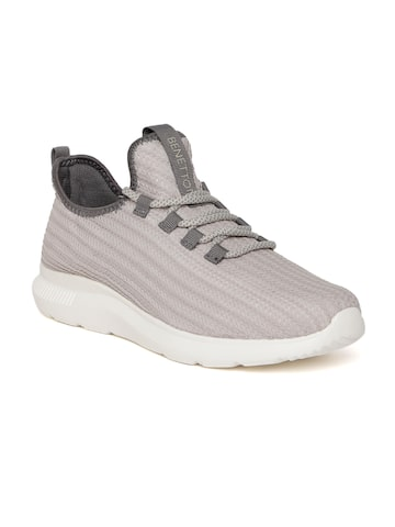 United Colors of Benetton Men Grey Woven Design Sneakers United Colors of Benetton Casual Shoes at myntra