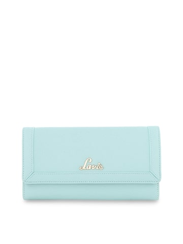 Lavie Women Green Solid Three Fold Leather Wallet Lavie Wallets at myntra