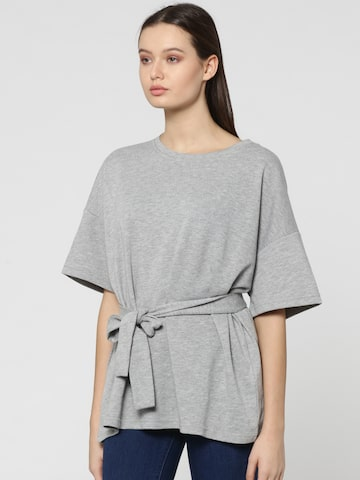 ONLY Women Grey Solid Top ONLY Tops at myntra