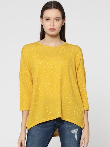 ONLY Women Yellow Printed High-Low Top ONLY Tops at myntra