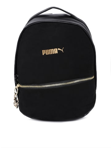 Puma Women Black Prime Premium Archive Solid Backpack Puma Backpacks at myntra