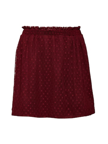 Oxolloxo Girls Maroon Dobby Stylised Skirt Oxolloxo Skirts at myntra