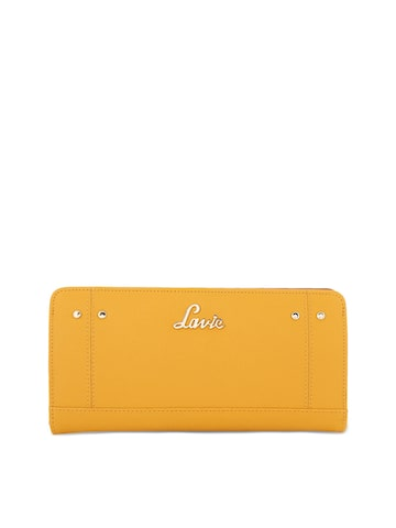 Lavie Women Mustard Solid Two Fold Wallet Lavie Wallets at myntra