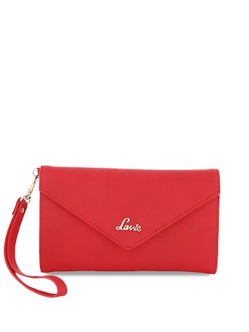 Lavie Women Red Solid Three Fold Wallet Lavie Wallets at myntra