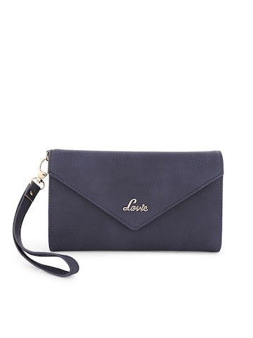 Lavie Women Navy Blue Solid Three Fold Wallet Lavie Wallets at myntra