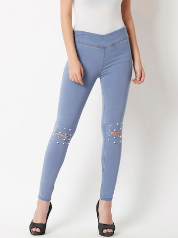 Miss Chase Embellished Blue Jeggings Miss Chase Jeggings at myntra