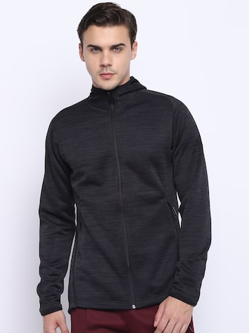 Adidas Men Black Freelift TRH 360 Climaheat Hooded Training Sweatshirt Adidas Sweatshirts at myntra