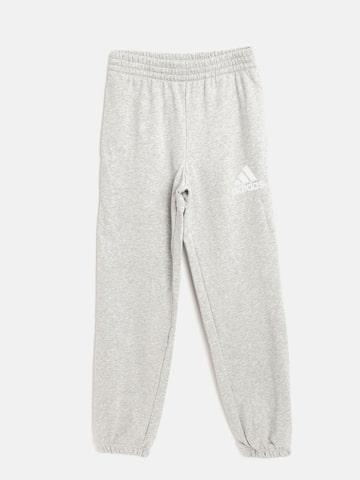 Adidas Boys Grey Melange YB CP Joggers Adidas Track Pants at myntra