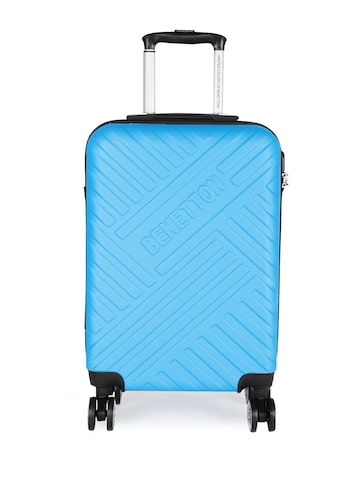 United Colors of Benetton Unisex Blue Cabin Strolley Bag United Colors of Benetton Trolley Bag at myntra
