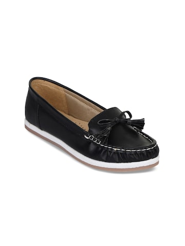 Bruno Manetti Women Black Loafers Bruno Manetti Casual Shoes at myntra