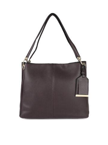 Accessorize Burgundy Solid Shoulder Bag Accessorize Handbags at myntra