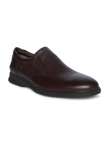 Ruosh Men Brown Leather Semi-Formal Shoes Ruosh Formal Shoes at myntra