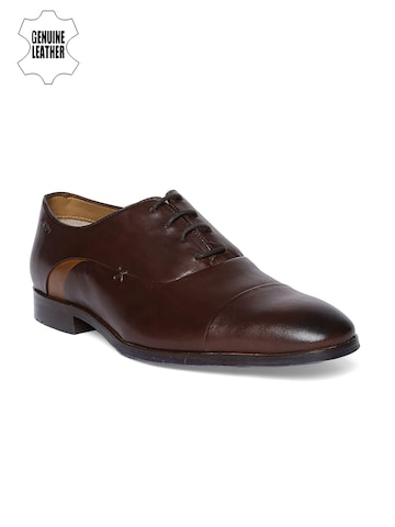 Ruosh Men Brown Leather Formal Oxfords Ruosh Formal Shoes at myntra