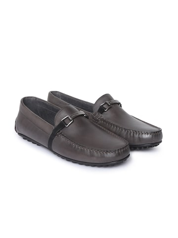 Tommy Hilfiger Men Black Leather Loafers Tommy Hilfiger Casual Shoes at myntra