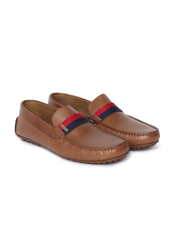 Tommy Hilfiger Men Tan Leather Loafers Tommy Hilfiger Casual Shoes at myntra
