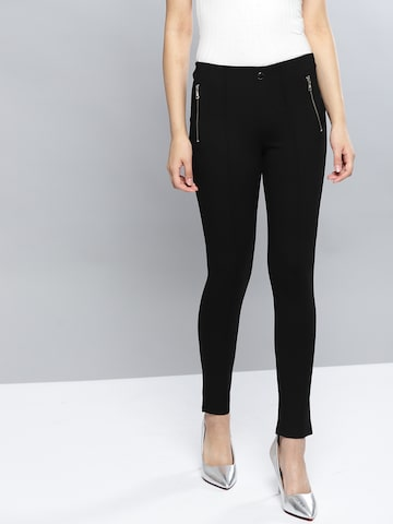 Harpa Women Black Solid Treggings Harpa Jeggings at myntra