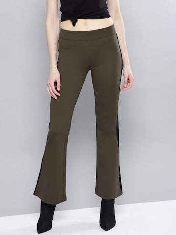 Harpa Women Olive Green Solid Treggings Harpa Jeggings at myntra