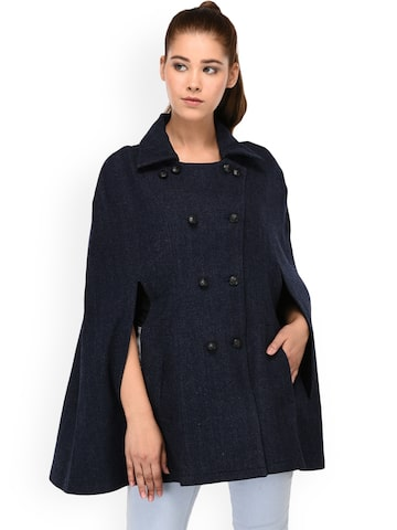 Owncraft Navy Woollen Coat Owncraft Coats at myntra