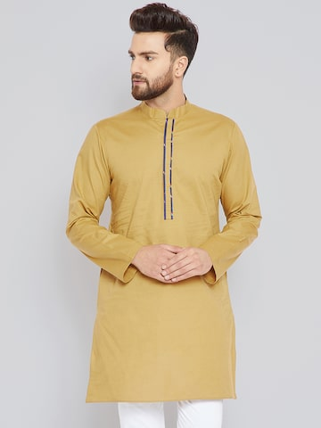 See Designs Men Khaki Solid Straight Kurta See Designs Kurtas at myntra