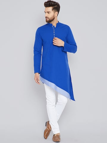 See Designs Men Blue Embroidered A-Line Kurta See Designs Kurtas at myntra