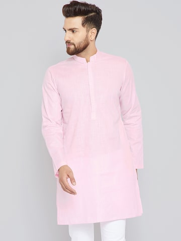See Designs Men Pink Solid Straight Kurta See Designs Kurtas at myntra