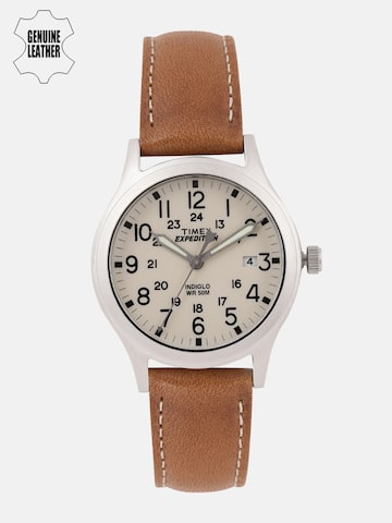 Timex Unisex Beige Analogue Watch TW4B11000 Timex Watches at myntra
