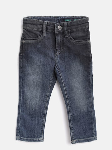 United Colors of Benetton Boys Navy Blue Regular Fit Mid-Rise  Jeans United Colors of Benetton Jeans at myntra