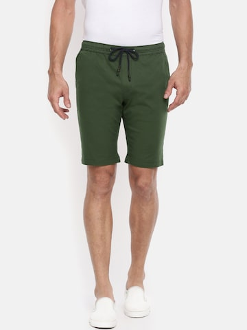 The Indian Garage Co Men Olive Green Solid Slim Fit Chino Shorts The Indian Garage Co Shorts at myntra
