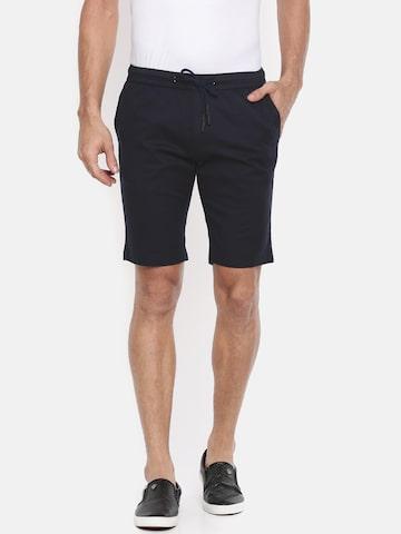 The Indian Garage Co Men Navy Blue Solid Slim Fit Chino Shorts The Indian Garage Co Shorts at myntra