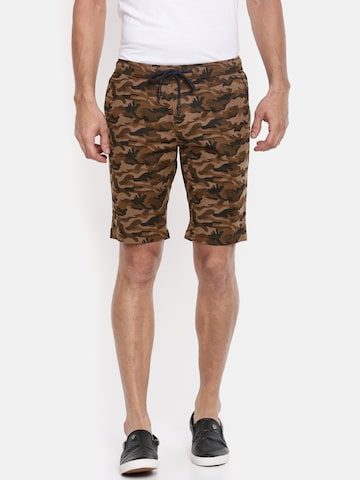 The Indian Garage Co Men Rust Brown Printed Slim Fit Chino Shorts The Indian Garage Co Shorts at myntra