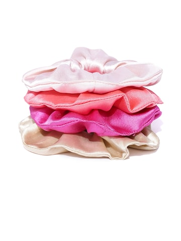 Blueberry Women Set of 4 Satin Scrunchies Blueberry Hair Accessory at myntra