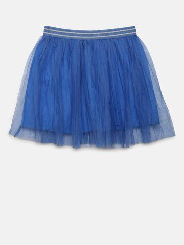 United Colors of Benetton Girls Blue Net Flared Skirt United Colors of Benetton Skirts at myntra
