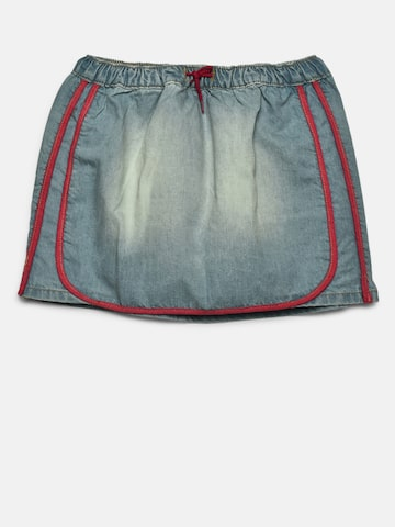 United Colors of Benetton Girls Blue Washed Denim A-Line Skirt United Colors of Benetton Skirts at myntra