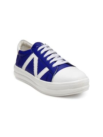 Zachho Women Blue & White Sneakers Zachho Casual Shoes at myntra
