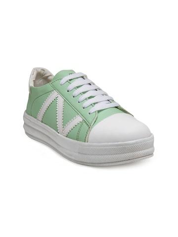 Zachho Women Green & White Sneakers Zachho Casual Shoes at myntra