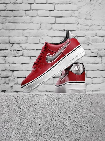 Nike Men Red Air Force 1 '07 LV8 Sport Perforated Leather Sneakers Nike Casual Shoes at myntra