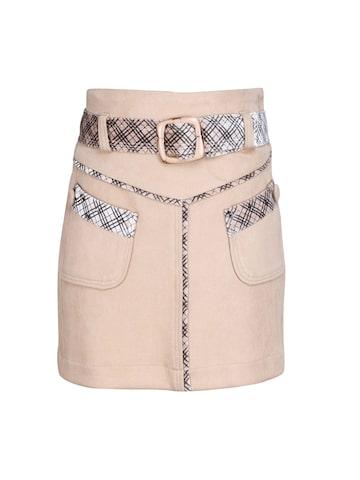 CUTECUMBER Girls Beige Checked Straight Skirt CUTECUMBER Skirts at myntra