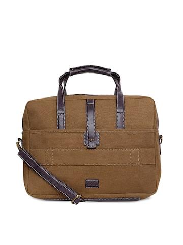 yelloe Unisex Brown Solid Laptop Bag yelloe Laptop Bag at myntra