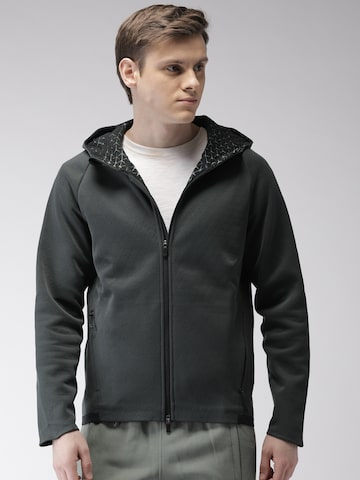 Nike Men Charcoal Grey Standard Fit AS M NK THRMA SPHR MX JKT Hooded Sporty Jacket Nike Jackets at myntra