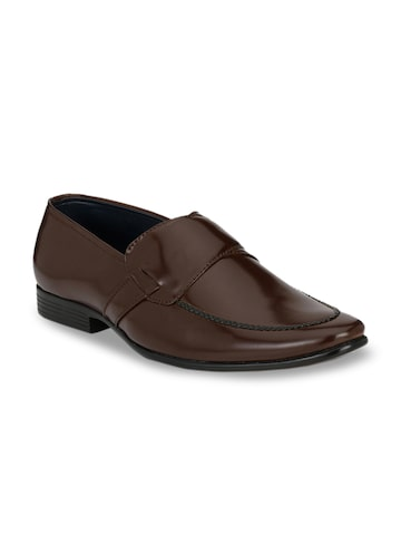 Guava Men Brown Solid Formal Slip-Ons Guava Formal Shoes at myntra