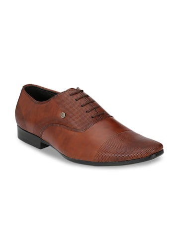 Guava Men Brown Solid Formal Oxfords Guava Formal Shoes at myntra