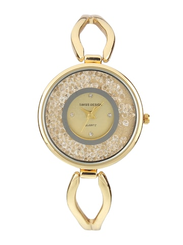 Swiss Design Women Gold-Toned Analogue Watch SD-909-IPG Swiss Design Watches at myntra