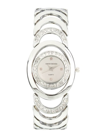Swiss Design Women Silver-Toned Analogue Watch SD-905-IPS-Silver Swiss Design Watches at myntra